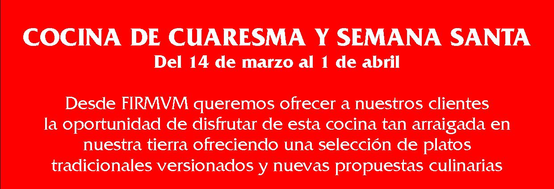 COCINA DE CUARESMA